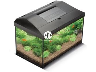 AQUAEL LEDDY SET 40 czarny (113264) - Kompletny zestaw akwariowy z oświetleniem LED, filtrem i grzałką, 41x25x25cm