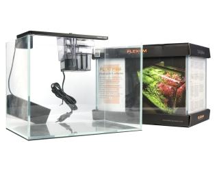 FLEXI mini Scape Set (FM74006) - Zestaw akwariowy z oświetleniem (srebrna lampka), filtrem kaskadowym i podkładką.