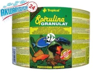 TROPICAL SPIRULINA GRANULAT 5L/2,2kg | roślinny pokarm granulowany, z dodatkiem glonów Spirulina platensis