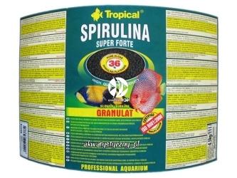 TROPICAL SUPER SPIRULINA FORTE GRANULAT 5L/3kg - roślinny pokarm w postaci tonącego granulatu z wysoką zawartością spiruliny (36%)
