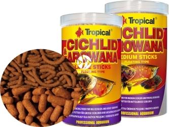 TROPICAL Cichlid & Arowana Sticks - Wybarwiające pałeczki z astaksantyną dla średnich pielęgnic i młodych arowan