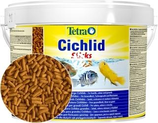 TETRA Cichlid Sticks 10l (T153691) - Pływający pokarm w pałeczkach dla pielęgnic.