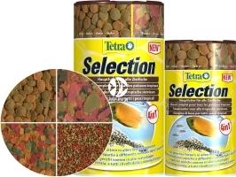TETRA Selection (T247550) - 4 rodzaje pokarmów dla ryb z różnych stref akwarium.