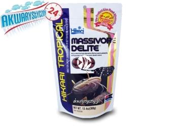 HIKARI MASSIVORE DELITE - Duży pokarm dla mięsożernych ryb dennych i wodnych potworów.