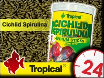 TROPICAL CICHLID SPIRULINA - roślinne pałeczki ze spiruliną dla średnich pielęgnic