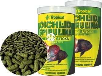 TROPICAL Cichlid Spirulina Sticks - Roślinne pałeczki ze spiruliną dla średnich pielęgnic