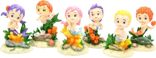 AQUA DELLA Love Kiddlies 1szt (234-421093) - Figurki syrenki dzieci, dekoracja do akwarium