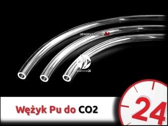 Wąż ciśnieniowy Pu 6x4mm [1m] do instalacji CO2