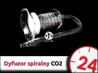 SZKLANY DYFUZOR CO2 (Spiralny) 40mm