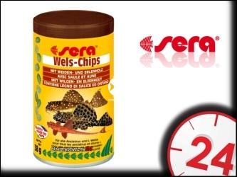 SERA WELS-CHIPS - Specjalny pokarm dla ryb akwariowych zwłaszcza glonojadów i sumików