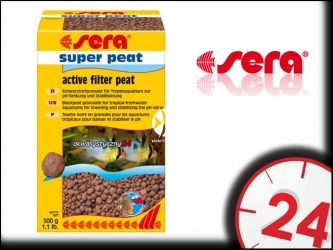 SERA SUPER PEAT 500g | Wkład do filtra do akwarium wprowadzający związki humusowe