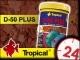 TROPICAL D-50 PLUS - Wysokobiałkowy, wybarwiający pokarm płatkowany dla paletek 185g/1L