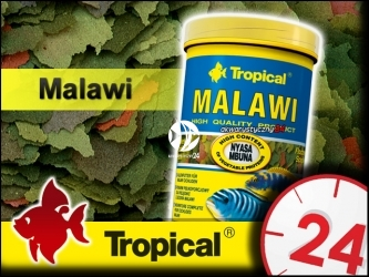 TROPICAL MALAWI 185g/1L - Podstawowy pokarm płatkowany dla pielęgnic mbuna z jeziora Malawi