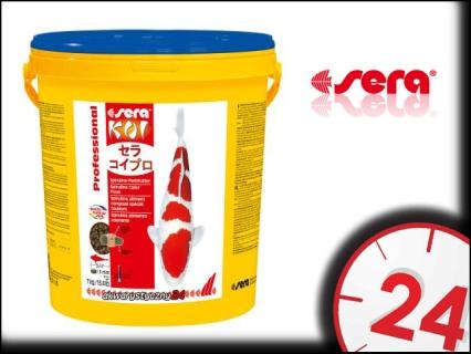 SERA KOI PROFESSIONAL SPIRULINA 7kg - Wybarwiający pokarm dla karpii koi ze spiruliną