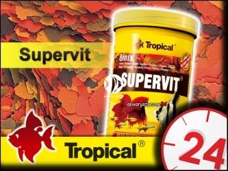 TROPICAL SUPERVIT 185g/1L - Wieloskładnikowy, podstawowy pokarm płatkowany z beta-glukanem
