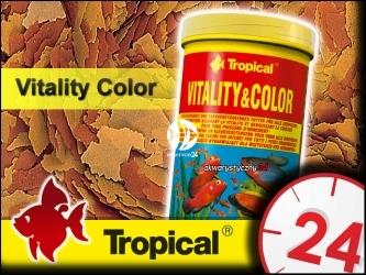 TROPICAL VITALITY&COLOR 185g/1L - Wysokobiałkowy, wybarwiający pokarm płatkowany z astaksantyną